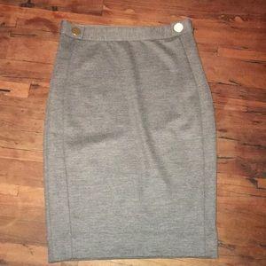 Diane Von Furstenburg Gray Pencil Skirt